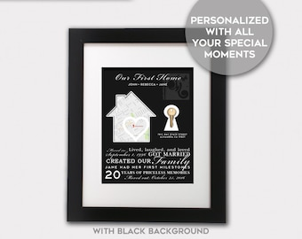 First Home Gift, First Home Sign, First Home Map, First Home Key, Personalized First Home, Housewarming Gift, Housewarming Gift Personalized