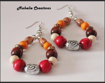 African earrings for women, ethnic earrings for women, long tribal earrings, bohemian earrings, statement earrings, colorful earrings