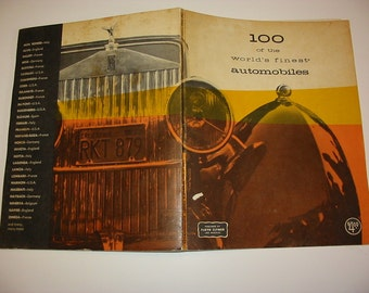 100 of the World's Finest Automobiles Vintage Auto Reference 1960 Softcover Book Old Cars