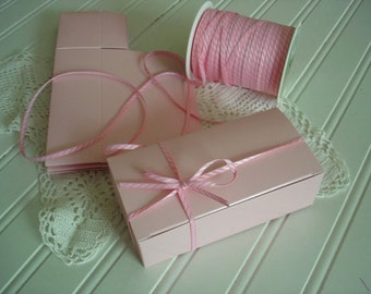 Pink Favor Boxes, 6 Pink Candy Boxes, Cookie Treat Boxes, Pink Wedding Favor Boxes, Gift Boxes, Pink  Boxes , 6 boxes  Bridal Showers
