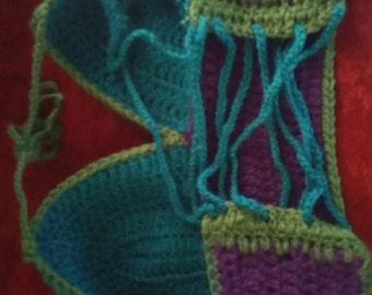 PGB M Crochet corset crop top