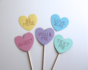 Best Valentine's Day Photo Booth Props - Sweetheart Candy Photo Booth Props