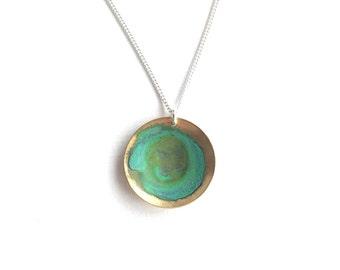 Verdigris Domed Necklace