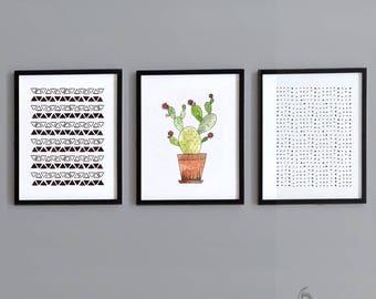 3 Piece Cactus Nursery Wall Art - Instant Download - Printable Art - Gender Neutral - Nursery Decor - Printable Nursery Art - DIY Print