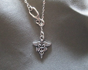 Nurse Practitioner Necklace - Lariat Style