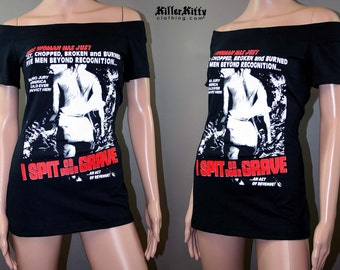 I Spit On Your Grave Off Shoulder Custom Horror Movie Tunic Top