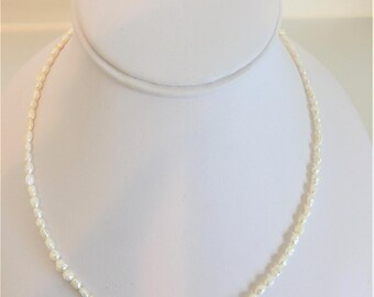 Lovely Delicate Fresh Water Pearl Strand Necklace