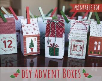 Advent Calendar Boxes ~ Countdown To Christmas ~ Printable Christmas Decoration