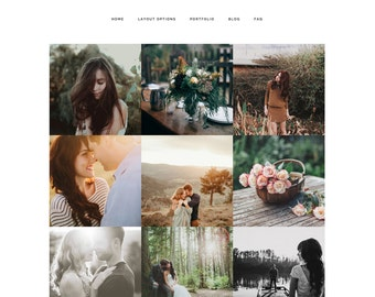 wordpress theme - antler & rose - mobile responsive wordpress template with custom colors and portfolio - INSTANT DOWNLOAD