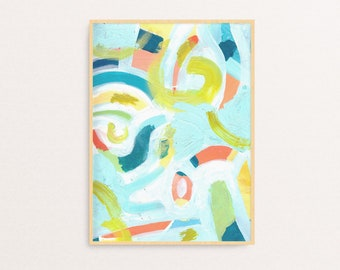 Small Colorful Abstract Painting