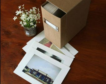 10 white kraft cardboard picture frames