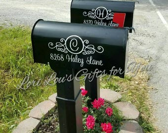 Mailbox Decal, Address Decal, mailbox monogram, mailbox initial, mail box decal, personalized mailbox, address monogram, house number decal