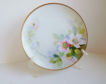 Vintage hand-painted floral plate Nippon hand-painted plate