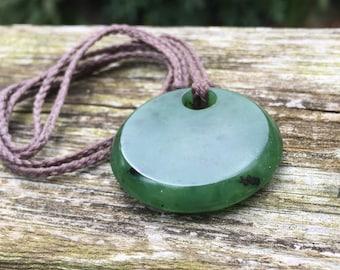Large Ogden Mountain BC Jade Pendant Necklace