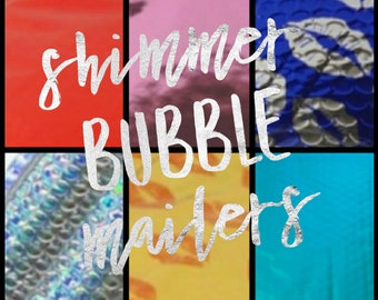 "Shimmer Bubble Mailers 6"" x 9"""