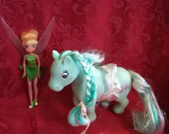 Vintage 1994 my little pony and Tinkerbell.