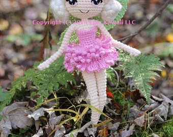 PATTERN: Chrysanna the Albino Fairy Crochet Amigurumi Doll