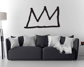 Basquiat  Crown Wall Decal / Basquiat Art / Home Decor / Wall Sticker / Wall Decal