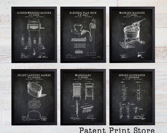 Laundry Room Patent Art Prints. Laundry Room Sign. Laundry Room Art. Patent Prints. Laundry Room Decor. Laundry Room Prints. 208