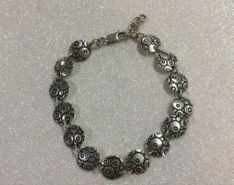 925 Sterling Silver Circles Bracelet