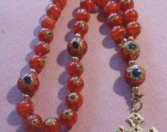 Millefiori Anglican Protestant rosary