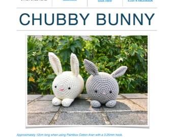 Pattern: Chubby Bunny (Digital PDF File)