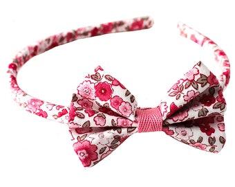 Pink liberty headband / bow headband