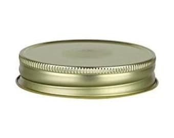 12 pcs Gold Mason Jar Lid with Safety Button for Regular Mouth Mason Jars- BPA Free, Plastisol Lined