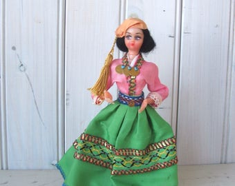 Vintage Traditional Ethnic Middle Eastern Female Doll