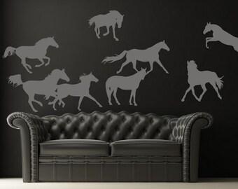 Wall Sticker Horses  (237n)