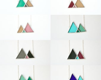 Mountain Stained Glass Necklace