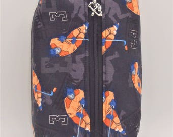 Ice Hockey Bag, Hat Trick Pouch, Hockey Toiletry Bag, Ditty Bag, Makeup Bag, Travel Pouch, Pencil Case, Snack Bag, Go Bag, Hockey Gifts