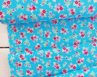 Flower Sugar Berry - Floral(Aqua Background)- Lecien - Japan, Inc