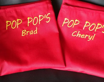 Custom Personalized red adult apron