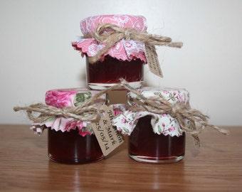 Summer Wedding Favours, Edible Favours, Jam Wedding Favours, Mini Jam, Anniversary, Bridal Shower