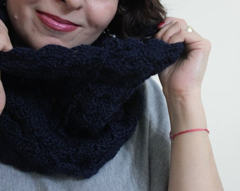 Infinity Cowl , Fall Spring Winter Lace Fashion Hand Knit For Her Winter Fall Holiday Accessories