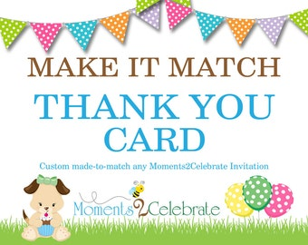 Party Essentials - Printable Matching Thank You Cards