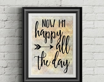 Now I'm Happy All The Day Digital Hymn Print
