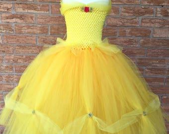 Princess Belle costume, princess costume, Beauty costume, Belle dress, Belle tutu dress, Beauty dress, yellow princess dress, princess tutu