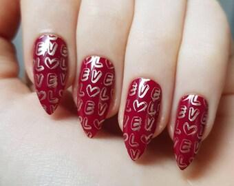 Love Valentine's Day False Nails
