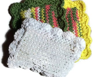 Knitted Sponge / Knitted Dishcloth / Fruit Bowl Scrubby / Pot Scrubber / Dish Scrubbies / Dish Cloth / Sponge / Nylon Scrubbie / Scrubber