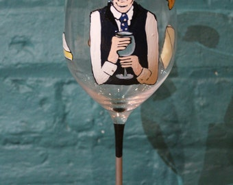 Caricature Glass with hobbies