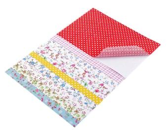 10 sticker sheets fabric 10 x 15 cm