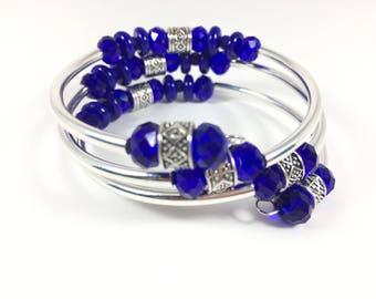 True Blue Wrap Bangle Bracelet