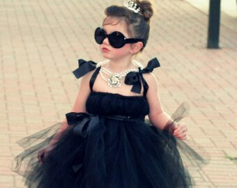 Audrey Hepburn Tutu Dress by Atutudes - THE ORIGINAL as seen on Jessica Alba, Lauren Conrad, and  Pinterest Kids Girls Costume