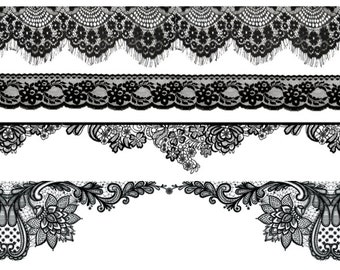 "Black Lace Bracelet Temporary Tattoos - ""Straight-Laced"""