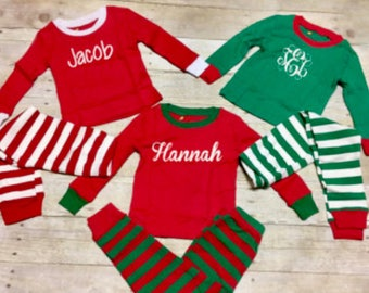 Personalised Christmas eve pyjamas