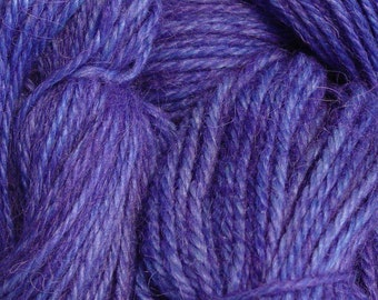 Hand Dyed Alpaca Yarn in Amethyst - Finger Wt - 250 yds