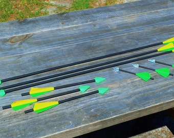 9 Assorted Arrows with Green Arrow Theme for Cosplay