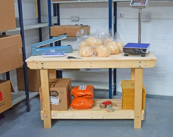 4.5FT Wooden Workbench  | Handmade | VERY STRONG & STURDY | Next Day Delivery | Top Quality!